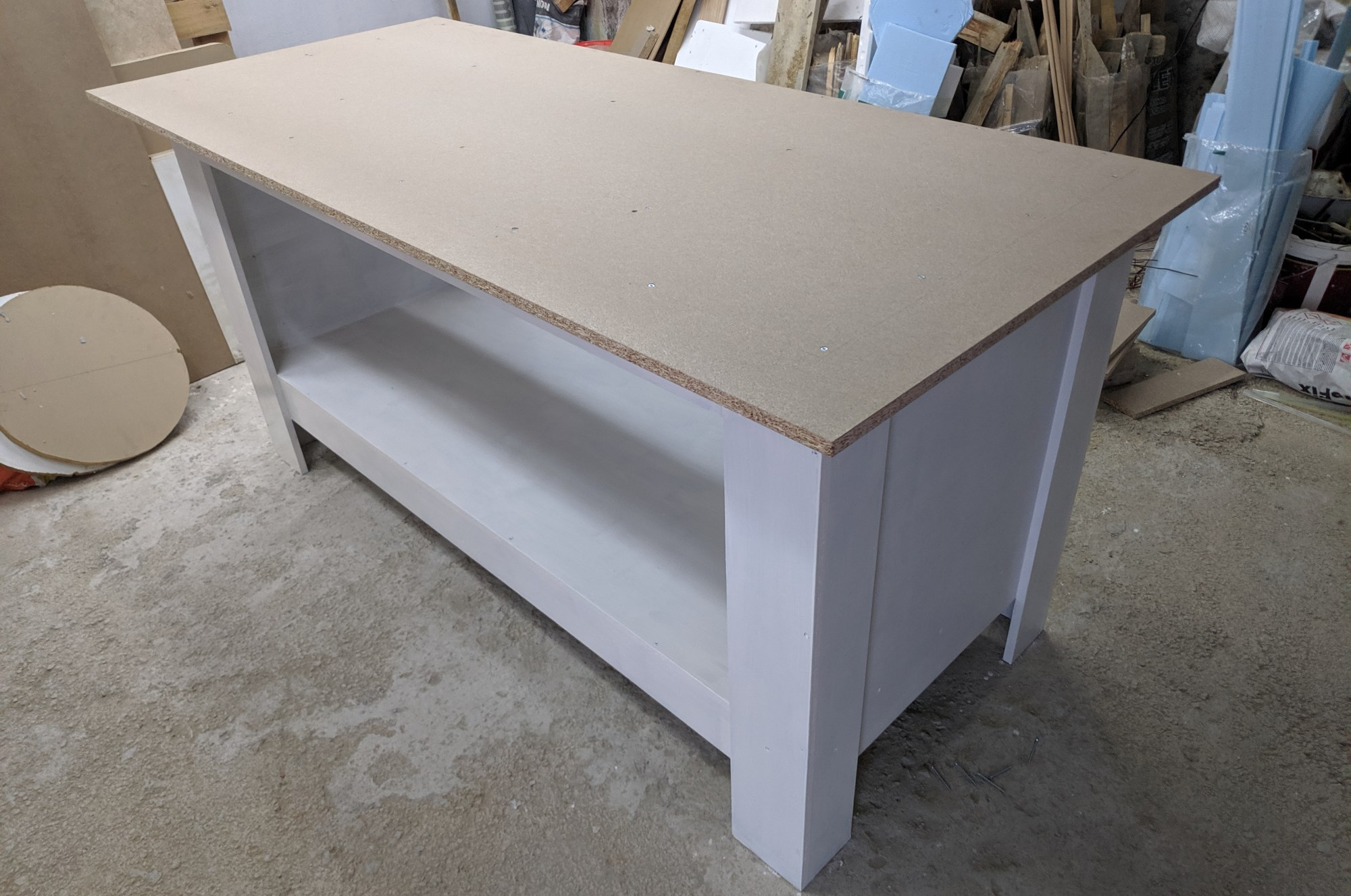 The use of particleboard in the workshop